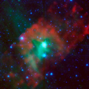 This image layout illustrates how NASA's Spitzer Space Telescope was able to show that astandard candle_Delta Cephei